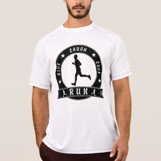 Camiseta Círculo masculino do FUNCIONAMENTO vivo do amor do