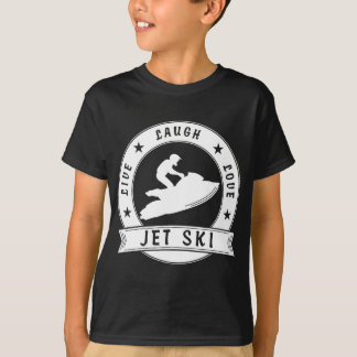 Camiseta Círculo vivo do surf do amor do riso (branco)