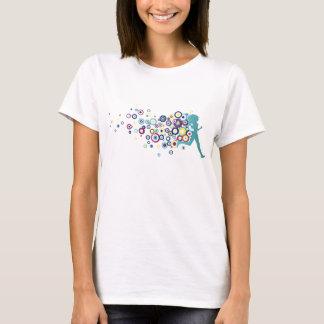Camiseta Círculos de turquesa da menina do corredor