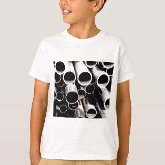 Camiseta círculos empilhados do aço