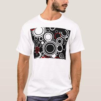 Camiseta Círculos vermelhos e brancos retros