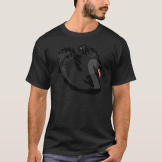 Camiseta cisne preta