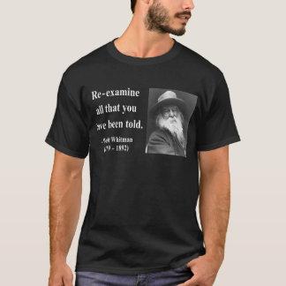 Camiseta Citações 1b de Whitman