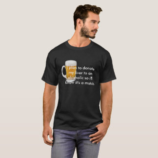 Camiseta Citações alcoólicas do t-shirt escuro básico dos
