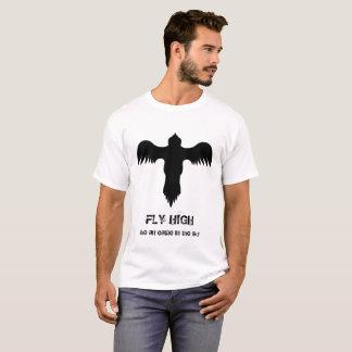 Camiseta Citações altas da mosca branca legal do preto do
