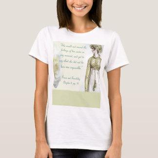 Camiseta Citações da irmã do sentido e da sensibilidade