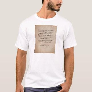 Camiseta Citações de Alexis de Tocqueville