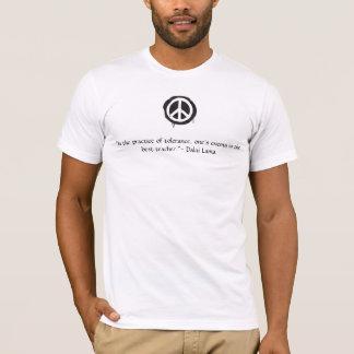 Camiseta Citações de Dalai Lama do sinal de paz