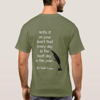 Camiseta Citações de Emerson -- O melhor dia - t-shirt
