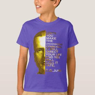 Camiseta Citações de Jung - faça o consciente inconsciente