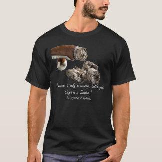 Camiseta Citações de Kipling do charuto