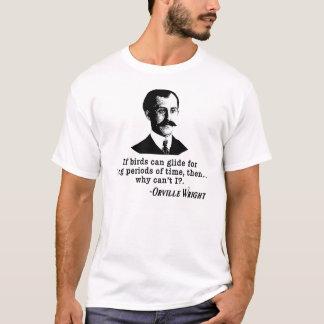 Camiseta Citações de Orville Wright no vôo e nos pássaros