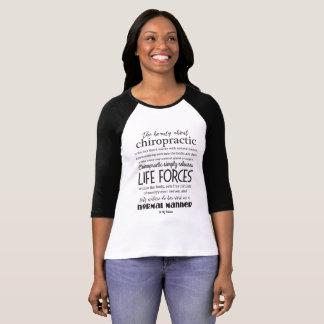 Camiseta Citações de Palmer a beleza sobre a quiroterapia