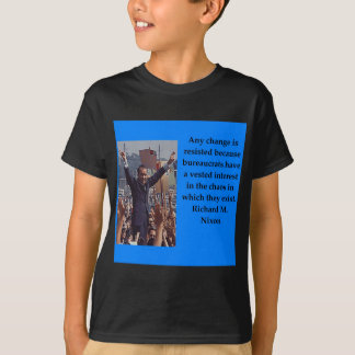 Camiseta Citações de Richard Nixon