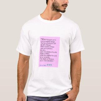 Camiseta Citações de Robert Burns, os direitos das mulheres