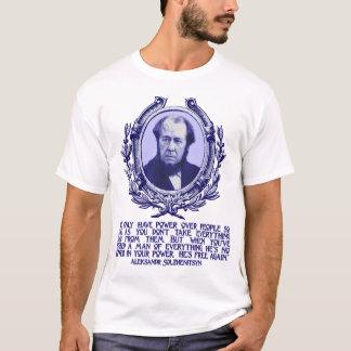 Camiseta Citações de Solzhenitsyn:  Liberdade & perda de