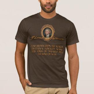 Camiseta Citações de Thomas Jefferson:  Hostilidade eterno