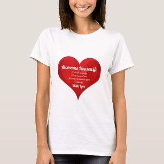Camiseta Citações do amor do coração da tipografia do
