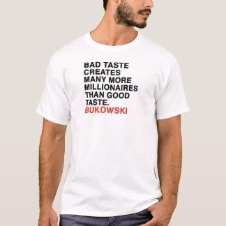 Camiseta citações do bukowski
