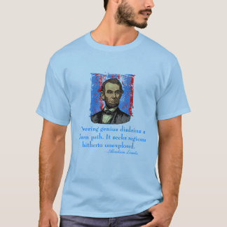 Camiseta Citações do gênio de Abraham Lincoln