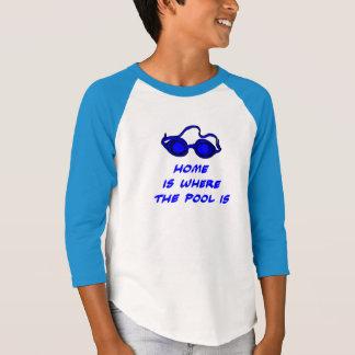 Camiseta Citações engraçadas da natação - parte superior da