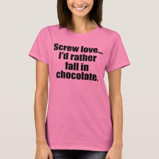 Camiseta Citações engraçadas do chocolate