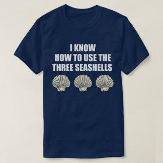 Camiseta Citações engraçadas do filme: Como usar os três