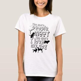 Camiseta Citações engraçadas do t-shirt do cão para o