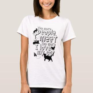 Camiseta Citações engraçadas do t-shirt do gato para o