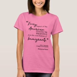 Camiseta Citações escritas à mão dos imigrantes dos
