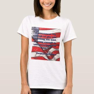 Camiseta Citações grandes do governo por Jefferson