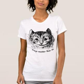 Camiseta Citações loucas do trunfo do gato de Cheshire do