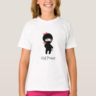 Camiseta Citações minúsculas da menina de Ninja - poder da