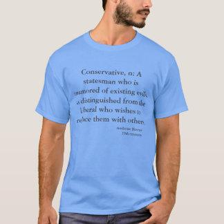 Camiseta Citações políticas de Ambrose Bierce da sátira