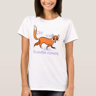Camiseta Citações sassy brilhantes da raposa para amantes