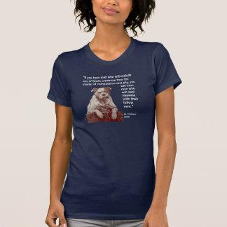 Camiseta Citações St Francis dos direitos dos animais do