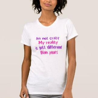 Camiseta Citações T da realidade do gato de Cheshire