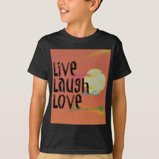 Camiseta Citações vivas do amor do riso da luz do sol