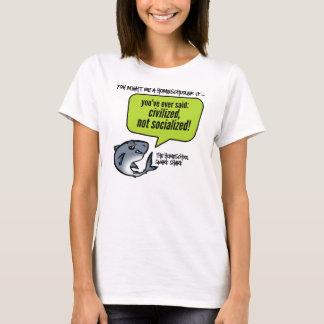 Camiseta Civilizado não socializado