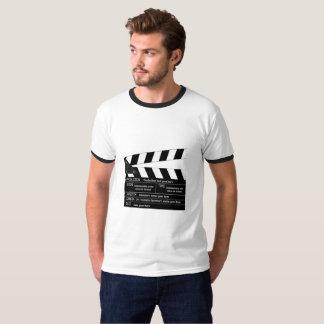 Camiseta Clapperboard customizável para cineastas