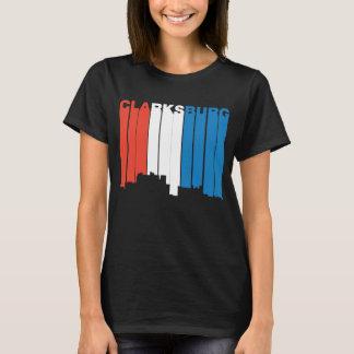 Camiseta Clarksburg branco e azul vermelho West Virginia