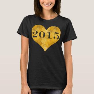 Camiseta Classe da folha de ouro do falso de 2015