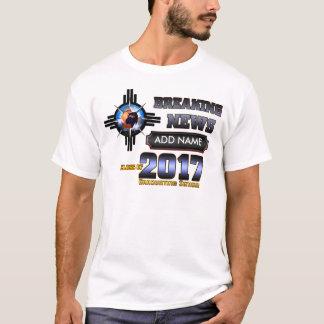 Camiseta Classe das notícias de última hora de 2017