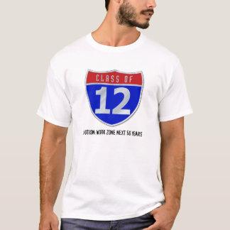 Camiseta Classe de 12 t-shirt da luz do sinal de estrada