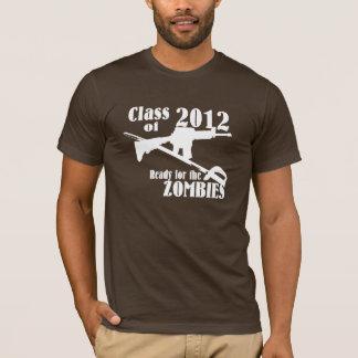 Camiseta Classe de 2012 prontos para os zombis