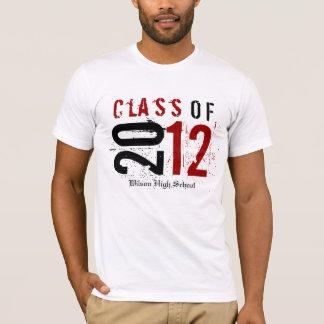 Camiseta Classe de 2012 vermelhos/preto (dê entrada com o