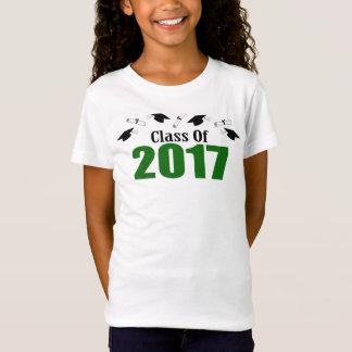Camiseta Classe de 2017 bonés e diplomas (verde)