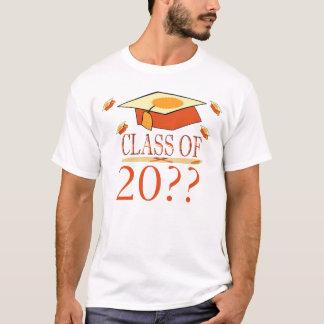 Camiseta Classe do chapéu da graduação do amarelo