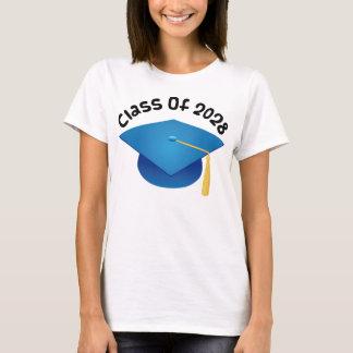 Camiseta Classe do presente 2028 graduado