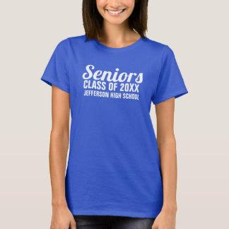 Camiseta Classe superior da graduação de um costume